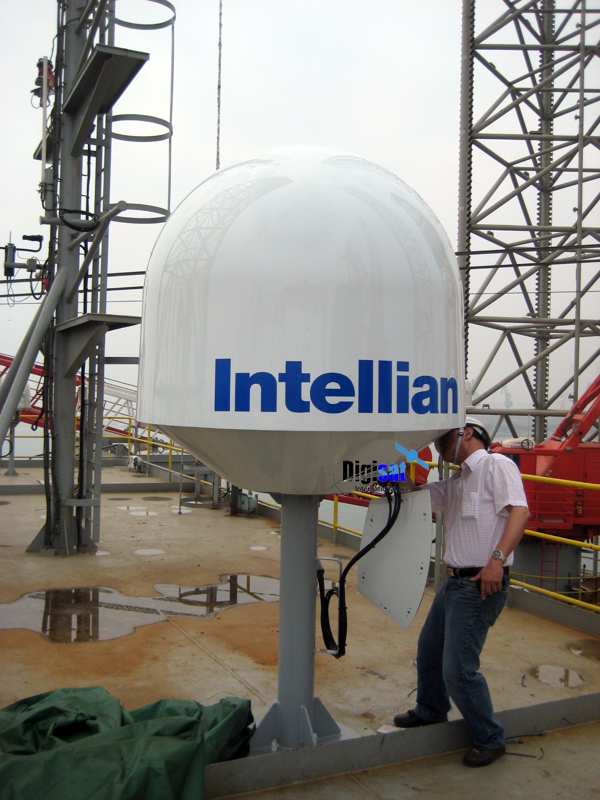 Boat Satellite Broadband Internet Antenna System Install