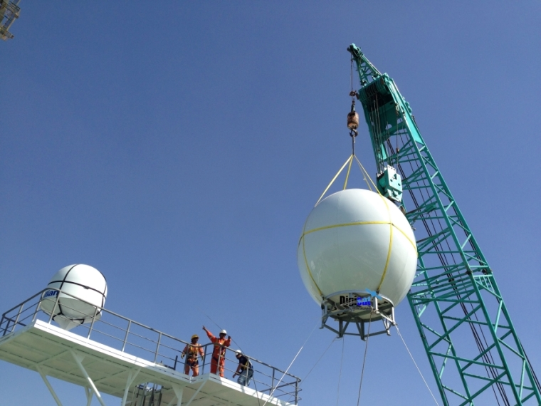 Seatel Intellian Maritime VSAT Internet Antenna System Installation